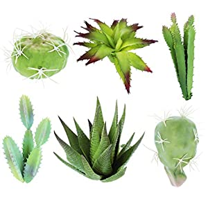 Juvale Faux Succulents - Artificial Plants, Unpotted Fake Succulent Plants with Stems for Home Garden Decorations, Office Desk Decor, Weddings 18