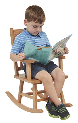 (ECR4Kids Heavy-Duty Solid Oak Hardwood Kids Rocking Chair, Natural Finish)