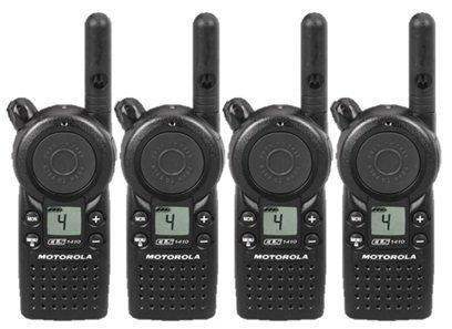 4 Pack of Motorola CLS1410 Two Way Radio Walkie Talkies (UHF) by Motorola
