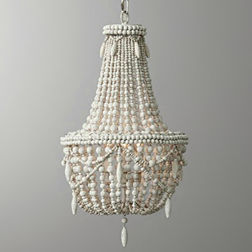 wood bead chandelier - 4