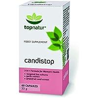 CANDISTOP - Traitement contre la mycose | Elimination de l'infectio n vaginale Candidose | 100% Naturelle avec des Probiotiques. Prébiotiques. Extrait de Pamplemousse et d'Ail. 60 capsules