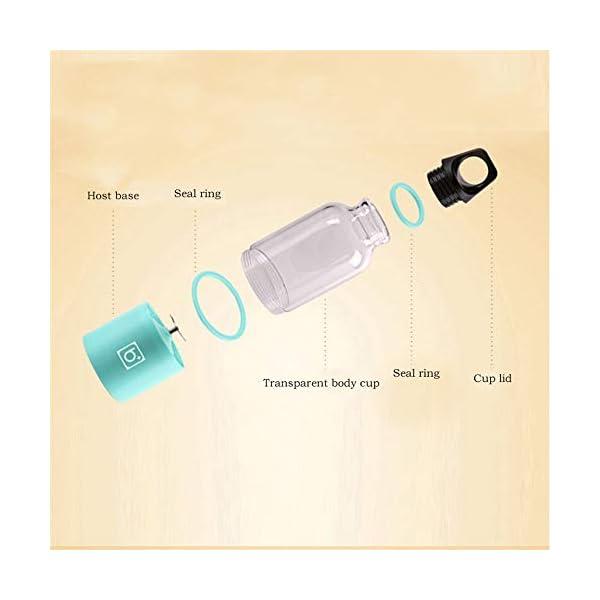 500ml 4 Lame Portatile Blender Blender Estrattore Di Succo Di Vetro A Mano Mixer Smoothie Blender Smoothie Usb… 2 spesavip