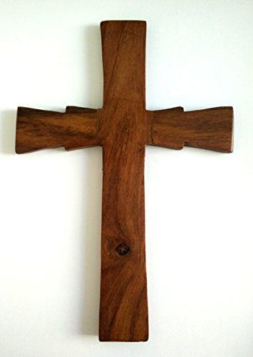 Handmade Wooden Holy Orthodox Religious Wood Carved Wall Cross Christ Crucifix Athos D