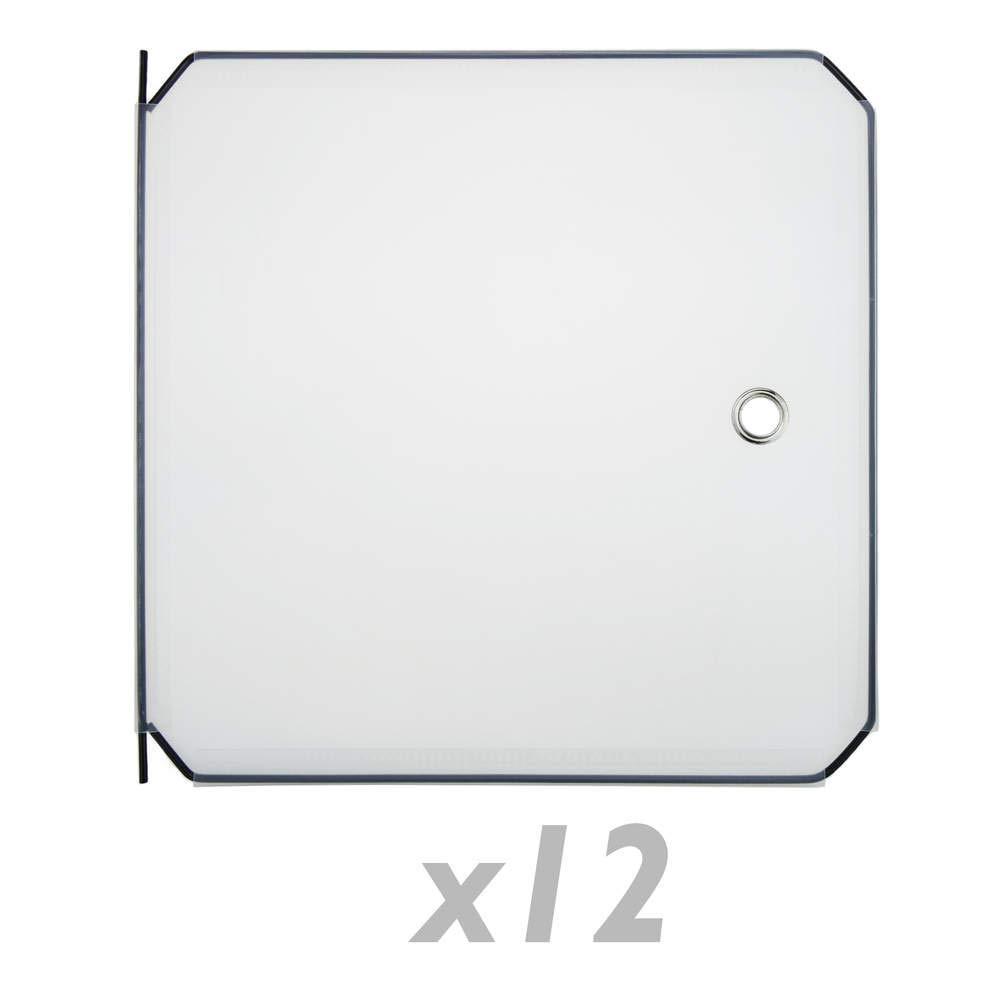 PrimeMatik - 12-Pack 35x35cm weiß Türen für kubische modulare Schrank Veranstalter PrimeMatik.com