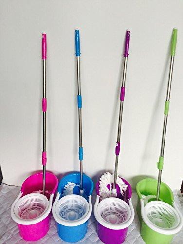 360° Bucket Floor Spin Mop (Pink) - 6