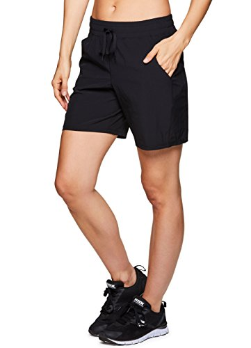 RBX Active Women's 7 inch Workout Yoga Short Spring18 Black S by RBX