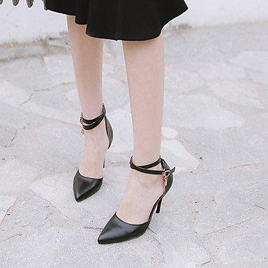 LvYuan Mujer-Tacón Stiletto-Otro Zapatos del club D'Orsay y Dos Piezas-Sandalias-Boda Oficina y Trabajo Fiesta y Noche-Semicuero-Negro Plata Oro Silver