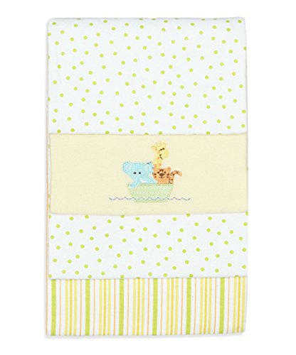 SpaSilk Unisex Baby 4 Pack 100% Cotton Flannel Receiving Blanket, Yellow, One Size by Spasilk