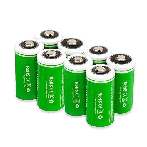 3.7V 750mAh RCR123A Li-ion Rechargeable Battery for Arlo Security Cameras VMC3030 VMK3200 VMS3330 3430 3530 Wireless Security Cameras(8 pack)