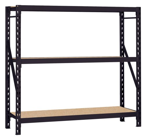 Muscle Rack 7224PRB 72-Inch Wide by 24-Inch Deep by 72-Inch High Heavy Duty Rack, Black by Muscle Rack
