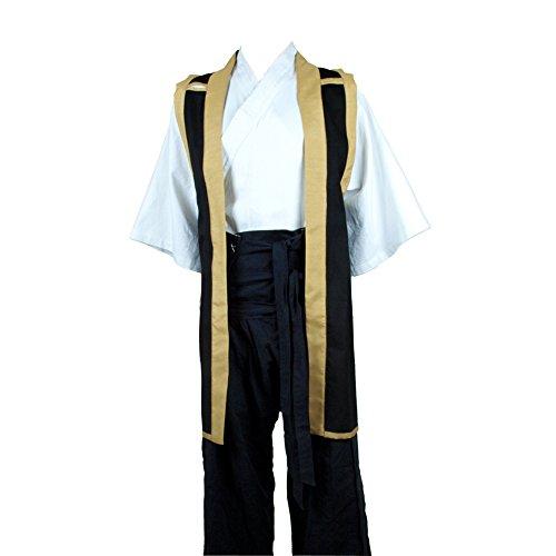 (Armor Venue Jin-Baori (Samurai Vest) Black with Gold Large)