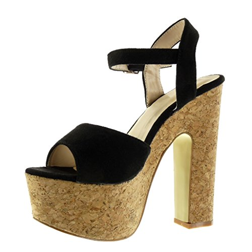 Sandale Cheville Femme Angkorly Lanière Chaussure Mode Plateforme 34j5ALqR