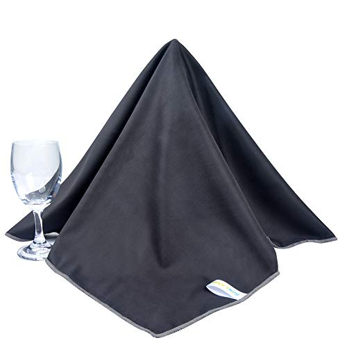SINLAND Microfiber Glass Polishing Cloths Thick Lint