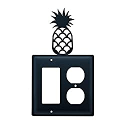 Village Wrought Iron Ego-44 Single Gfi & Outlet - Pineapple