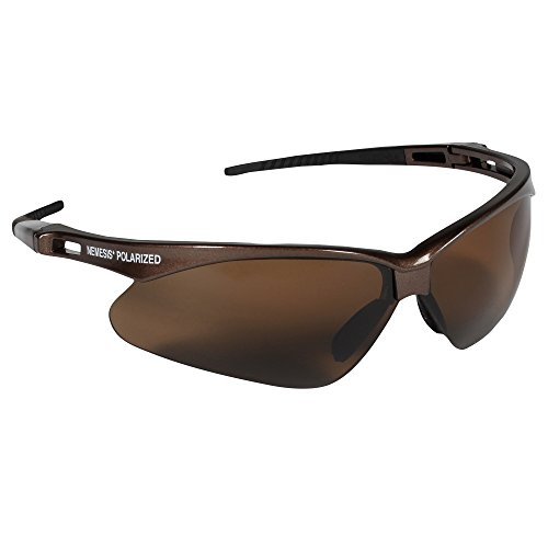 Jackson Safety V30 Nemesis Polarized Safety Glasses (28637), Polarized Brown Lenses, Brown - Uv Sunglasses Rating