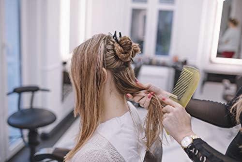 Lipogaine - Peine para el cabello con cuerno de búfalo estático ...