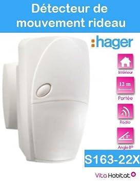 Hager - Detector movimiento ls radio cortina 8º 12m: Amazon.es: Bricolaje y herramientas