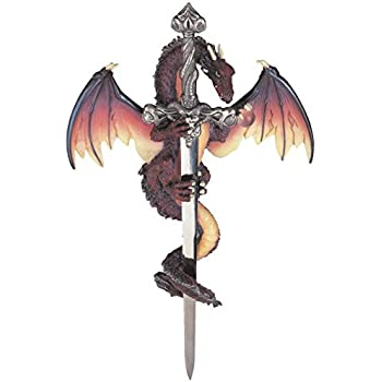 Amazon.com: Gifts & Decor Armored Dragon Wall Crest Castle ...