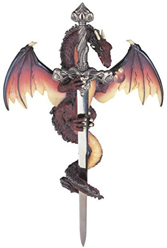 StealStreet SS-G-71303 Dragon Collection with Sword Collectible Fantasy Decoration - Statuette Dragon