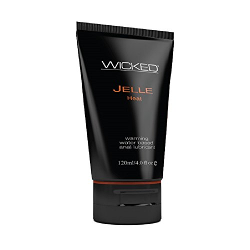 Wicked Jelle Anal Heat Warming Sensation Water Based Personal Gel Lubricant - 4 oz