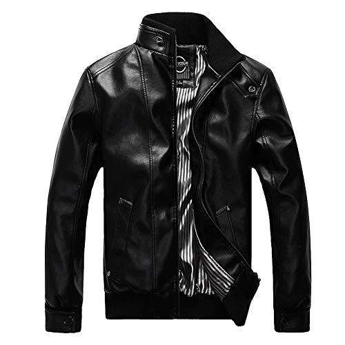 Pu Giubbotto Mengyu Giacche Uomo Jacket Pelle Fit Nero Slim In Biker xa6Z1qwa
