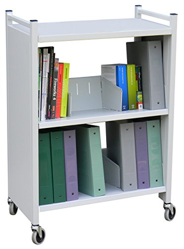 Heavy Duty 3 Tier Welded Steel Side Sloped Book & File Folder Cart by Omnimed