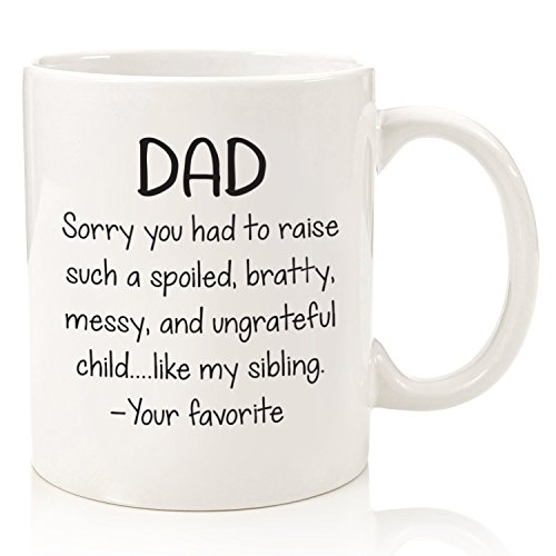 Amazon Spoiled Sibling Funny Dad Mug