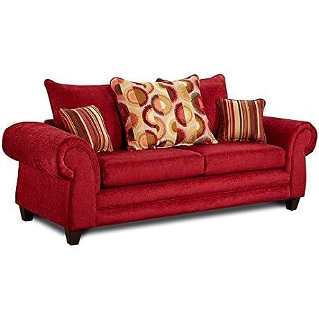 Carlen Sofa In Red 733679