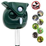 LANSONTECH Solar Animal Repellent, Ultrasonic Pest Repellent with Motion Sensor and Flashing Lights