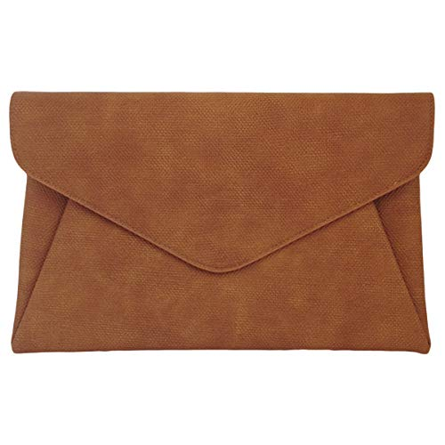 Synthetic-Leather-Double-Pocket-Envelop-Clutch