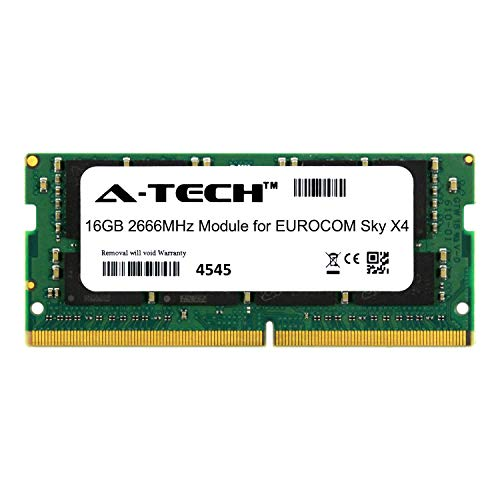 A-Tech 16GB Module for EUROCOM Sky X4 Laptop & Notebook Compatible DDR4 2666Mhz Memory Ram (ATMS388531A25832X1)