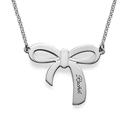 KIKISHOPQ Custom Named Personalized Butterfly Necklace(silver 14)