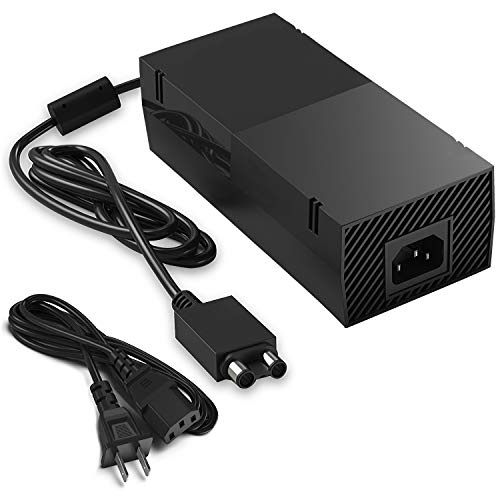 Xbox One Power Supply, AC Adapter Replacement Charger with Cable for Xbox 1, Xbox One Power Brick 100-240V (Best New Xbox One Games Coming Out)