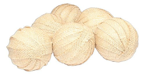 The Country House Collection Large Burlap Rag Balls - Set of 6 by The Country House Collection