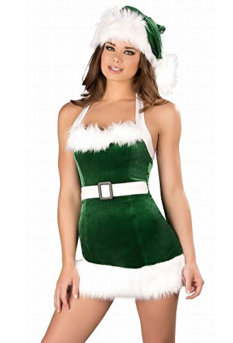 Fllt Women's Sexy Holiday Christmas Costume, Santa Baby (Plus Size Sexy Santa Christmas Costume)