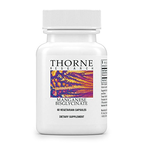 Thorne Research - Manganese Bisglycinate - Essential Mineral Support for Ligaments, Tendons, Joints, and Muscles - 60 Capsules