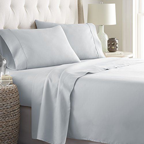 HC COLLECTIONHotel Luxury Bed Sheets Set 1800 Series Platinum Collection 4pc Deep PocketWrinkle