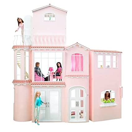 Amazon Com Mattel Barbie 3 Story Dream House Playset Toys Games