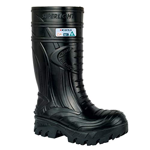 COFRA Waterproof Work Boots - THERMIC Cold Weather Rain Boot with Composite Safety Toe & Slip Resistant Nitrile Outsole - Size 10