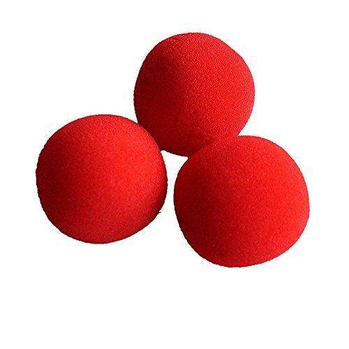 Great Deal(TM) Street Magic Trick Comedy Soft Red Sponge Ball Close-Up, 10Pcs