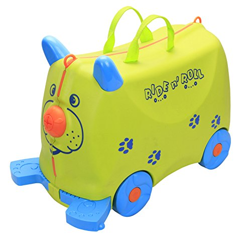 COLOR TREE Kid's Ride On Roll Suitcase Travel Luggage & Storage Bag,Ride On Luggage Stroller