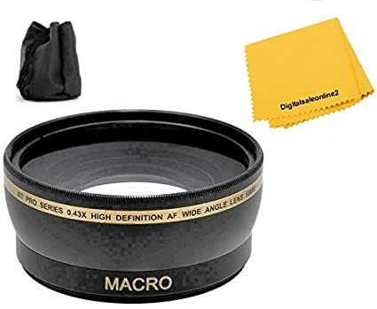 Amazon com : 0 43x Wide Angle Lens for Nikon D3400 D3500 D5600 with