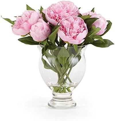 Napa Home Garden Peony 13 Arrangement in VASE Pink