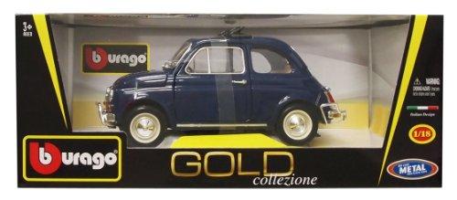 1/18 フィアット500L 1968 メタリックブルー 「Gold Collezione Series」 B18-12035BL