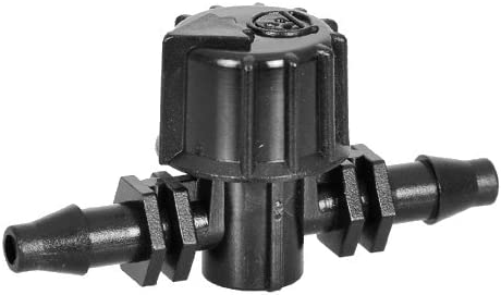Antelco Barbed 1//4 Tubing Coupling Vavle for Drip Irrigation Systems Pack of 5 Part 42155