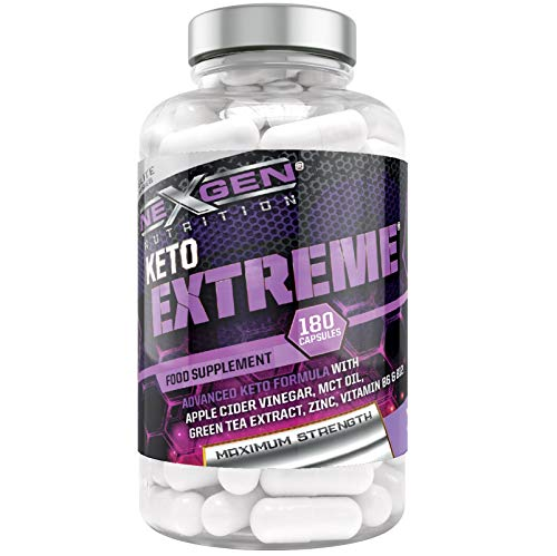 Keto Extreme Keto Supplement with Apple Cider Vinegar, MCT Oil, Green Tea Extract, Enriched with Vitamins & Minerals…