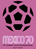 1970 FIFA World Cup Championship Soccer Football Mexico Mexican Latin America Vintage Travel Advertisement Art Poster Print. Measures 10 x 13.5 inches