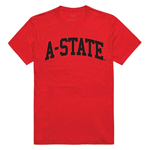 (Arkansas A-State University Red Wolves College Tee T-Shirt Red XXL)