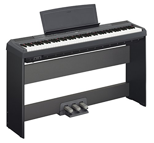 Yamaha P-115 Digital Piano - Black Bundle with Yamaha L-85 Stand, LP-5A Pedal, Furniture Bench, Inst - Image 1