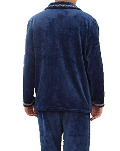 Blue Fashion Thick Fra Inverno House Sleeping Saoye Abbigliamento Cashmere Pajama Service Man Long aUqx76